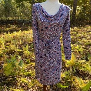 MONSOON DRESS BELTED FLORAL SHEATH LONG SLEEVE 4